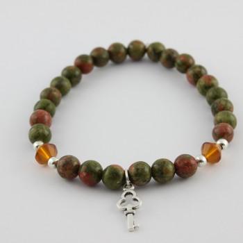bracelet en jade mashan breloque clé