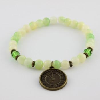 bracelet en jade mashan breloque horloge