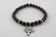 bracelet grenat breloque arbre