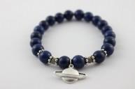 bracelet celestine breloque saturne