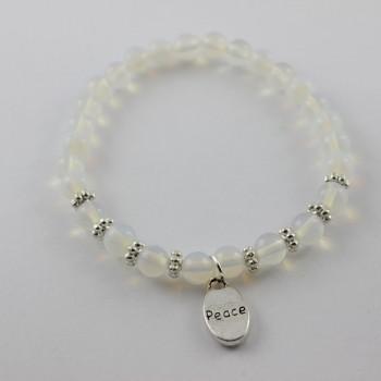 bracelet opale breloque peace