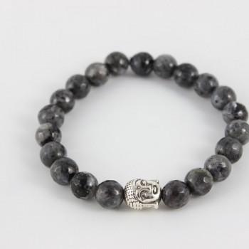 Bracelet en agate grise