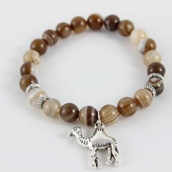 Bracelet en agate marron