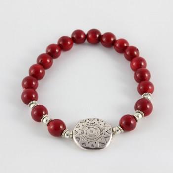 Bracelet rouge en corail