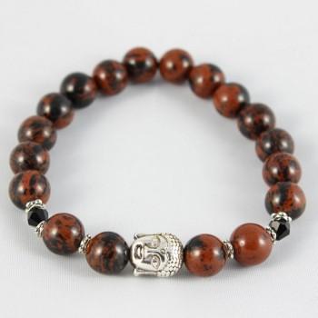 bracelet en obsidienne acajou