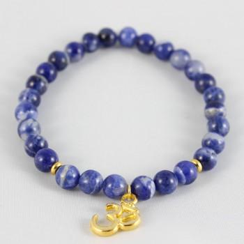 bracelet sodalite breloque om