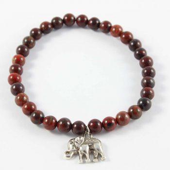 Bracelet jaspe rouge