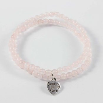 Bracelet quartz rose believe in love