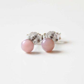 Boucles d'oreilles opale rose