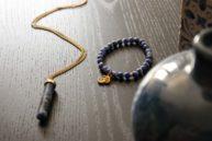 Collier et bracelet ici et maintenant en sodalite