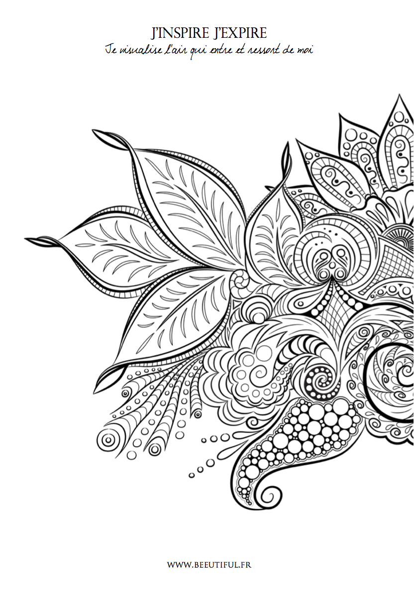 exemple coloriage extrait du carnet beeutiful